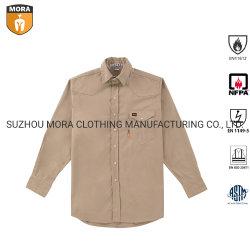 Nfpa 2112 franchi che coprono l'uniforme ignifuga di sicurezza del lavoro del Workwear antistatico all'ingrosso delle camice con i tasti