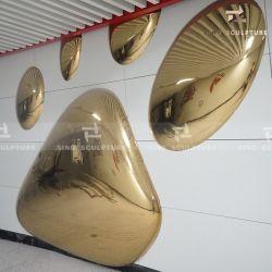 Edelstahl-Fassade-Skulptur mit Polier-, angestrichenem und Acrylfilm