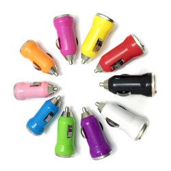 10カラーユニバーサル1AアダプターDC iPhone 7のプラスのSamsungの可動装置のための小型USB車の充電器