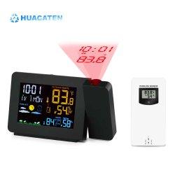 Écran couleur de la station météo Prévisions Rectangle tendance de température de l'humidité de l'horloge réveil avec le rcc