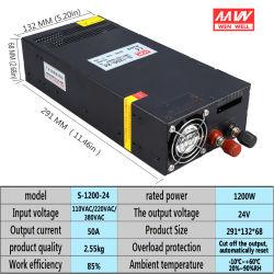 S-1200-24V регулируемое напряжение высокое светодиодный источник питания постоянного тока 1200 Вт переменного тока на 24 В постоянного тока 50 A