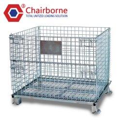 Los depósitos de la jaula de malla de alambre de palet apilable de contenedor de metal