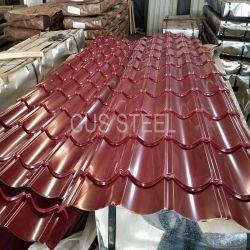 Revêtement de toit vitré tuile/toit de fer galvanisé prélaqué étape
