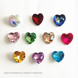 Point de la fabrication de bijoux Retour Rhinestone Crystal Chaton Swaro Crystal Bead (TB-coeur 27mm)