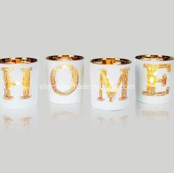 Bougie en verre de conception pour la décoration en verre titulaire Tealight