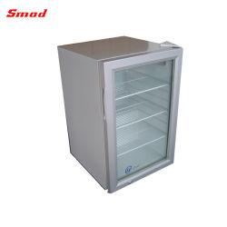 Стеклянные двери охладителя дисплея на прилавок стола холодильник