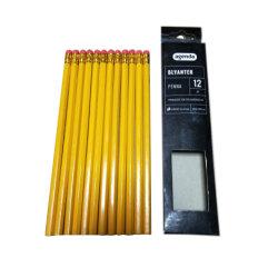 7 pouces jaune en bois Hb Crayon avec gomme