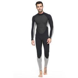 Neopreen 3mm van de douane 2018 Gekoppeld Waterdicht Mannelijk Nylon Volledig Lichaam zwemt Kostuums