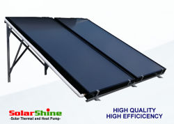 De ZonneCollector van de Vlakke plaat van de veiligheid voor de ZonneVerwarmer van het Water Stabieler dan de Geëvacueerde Collector van de Buis