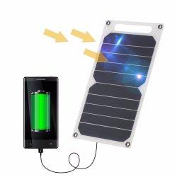 painel solar de 5 W DC telefone celular portátil USB Power Bank luz portátil Sunpower Carregador da Bateria