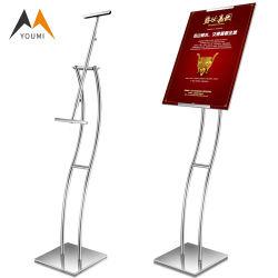 Neuer Entwurfs-moderner Edelstahl-Tisch-Oberseite-Plakat-Ausstellungsstand