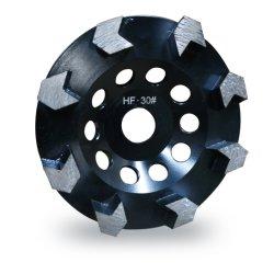 Diamond meulage tasse tasse segmenté Arrow-Shape Premium de roue
