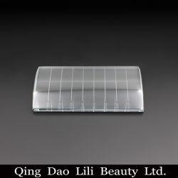 1개의 가짜 속눈썹 수정같은 대 패드 접착제 홀더에 대하여 2 진드기 표를 가진 분리기 접착성 깔판 직사각형 패드를 채찍질한다