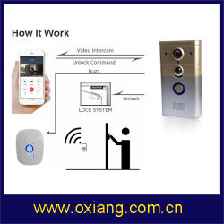Vídeo de WiFi Campainha da Porta de vídeo de intercomunicador sem fio Digital Phone