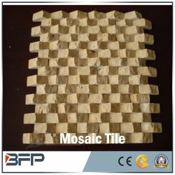 Pedra natural/em mármore travertino mosaico artístico para banho / Cozinha Azulejos do piso