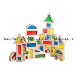 Дети дошкольного возраста деревянные игрушки большой яркое здание акриловые бруски 16ПК, просветить кирпича игрушек