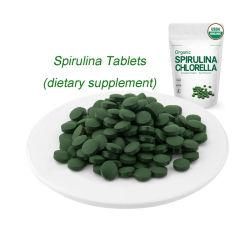 헬스케어 보충교재에 의하여 증명되는 유기 Spirulina 정제 음식 급료
