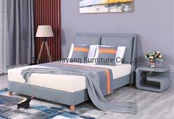 Het moderne Eenvoudige Tweepersoonsbed van het Meubilair van de Slaapkamer van het Hotel van het Bed van het Huis van het Bed Vastgestelde Met Rugleuning