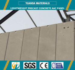 Hebel AAC do painel de revestimento de paredes de concreto com isolamento leve