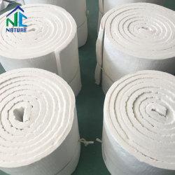96kg/m3 a 128 kg/m3 de 1.260 c manta de fibra cerámica para horno, la manta aislante térmico de fibra cerámica para el horno a 7200 x610x25mm 3600x610x50mm de tamaño personalizado Zibo
