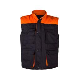 ملابس عالية الجودة من القطن المتين بدون أكمام صدرية جيب متعددة للرجال