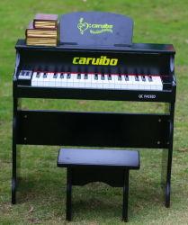 37 teclas pulido negro Piano Digital de los niños de piano de juguete con silla de Piano de la enseñanza de la pantalla LED