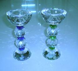 Portavelas de cristal de vidrio