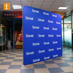 Stand de Feria de Muestras de tejido emergente de la pared como telón de fondo
