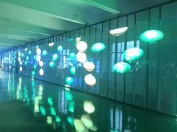 高い過透性LEDのガラス表示透過広告のLED表示カーテン