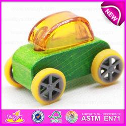 Novo Estilo de madeira clássico carro de brincar para crianças, Mini Carro de madeira de brinquedos a crianças puxe e empurre os carros W04A180e