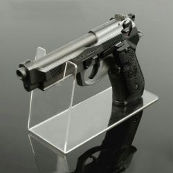 カスタム明確なアクリル銃の陳列台のプレキシガラス銃の陳列だな