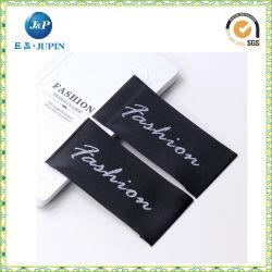 Tejido de satén de damasco/etiqueta el logotipo de tejido adhesivo y etiquetas para prendas tejidas (JP-CL116)