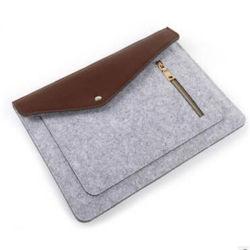 感じられた毛織の11、13の15インチのMacBookのための毛織のフェルトのラップトップの袖の箱カバーエンベロプ袋