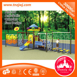 Plástico de alta calidad Playset columpio balancín de jardín con bastidor de escalada