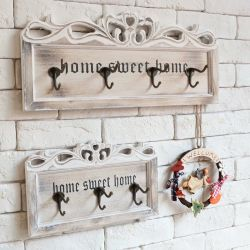 A Decoração de parede de madeira entalhada personalizado Artesanato Enganche o gancho de cabide