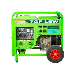 50~220levantar uma potência 2.5Kw com mão empurre duas grandes rodas gerador diesel para soldar por unidade de finalidade dupla Xangai