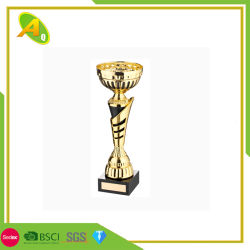 Nessun oro su ordinazione di MOQ, premio d'argento del trofeo della tazza del metallo con la base di legno (029)