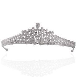 Nova suite casamento as mulheres de acessórios Sterling Silver Crystal Crown Tiara