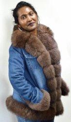 2019 Col Detacheable populaires femmes Fox naturel du lapin le raton laveur Denim Veste parka de fourrure Manteaux