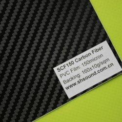 Venda a quente PVC coloridos de fibra de carbono para aluguer de Adorno corporal