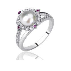 925 فضة فرشوتر بيرل رينج مجوهرات إكسسوارات أزياء هديّة للنساء