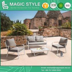 Sofá de alumínio para exterior com jardim almofada sofá individual mesa de café moderno mobiliário de jardim mobiliário de projeto de hotel