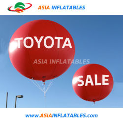 كرة البالون الإعلانات العائمة مع شعار العرض