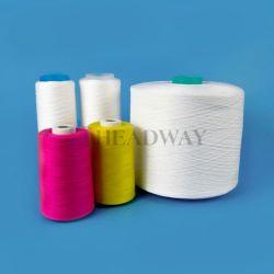 Commerce de gros cône AA Grade 100 % polyester teint Raw Fils blanc