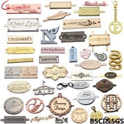 Logo in metallo personalizzato in fabbrica Nome dell'azienda marchio laser Segnaposto per le etichette regalo