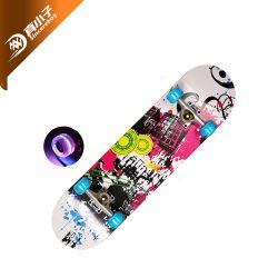 4 Rueda intermitente madera Skate Board patineta para los adultos