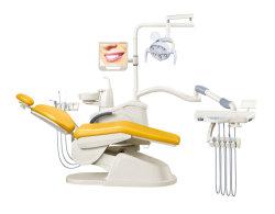 Cuero auténtico Left-Handed sillón dental de pacientes portátil móvil presidente