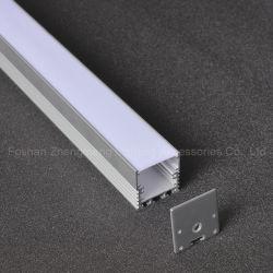 35mm 공간을%s 가진 지구 빛을%s 주문품 디자인 LED 알루미늄 단면도 알루미늄 밀어남은 양극 처리한다
