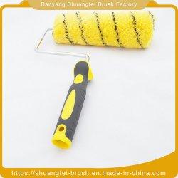 Raya verde Base Amarilla del rodillo de alambre de acrílico con mango de plástico