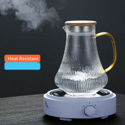 آنية زجاجيّة حرارة - مقاومة يشرب إبريق [وتر بوتّل] [بوروسليكت غلسّ] عادة ماك ثبت إناء مع مسخّن